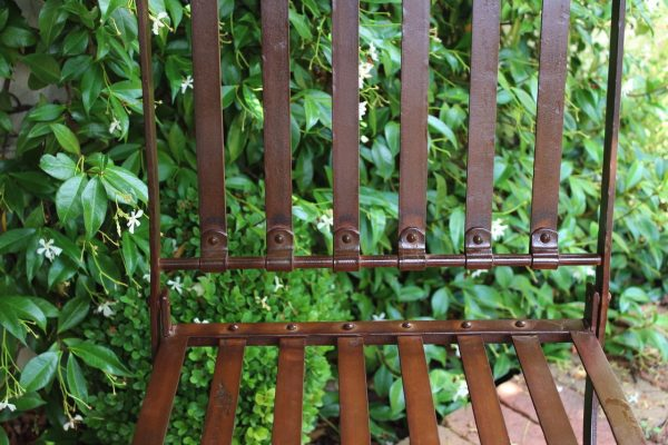 wrought iron chair rivets