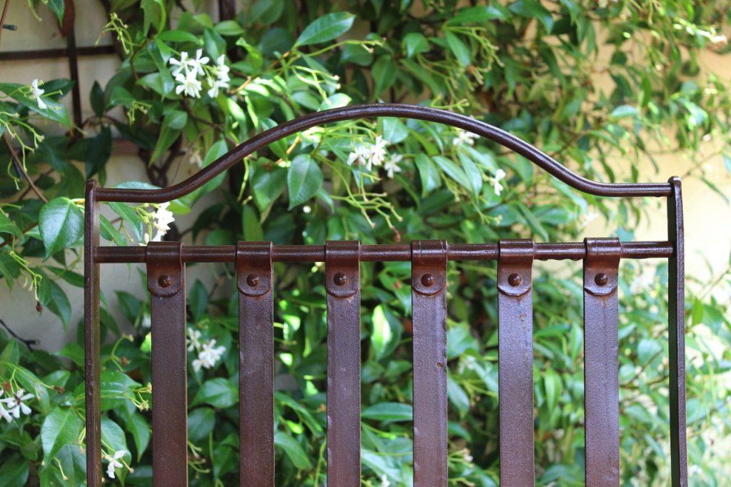 menton wrought iron chair top