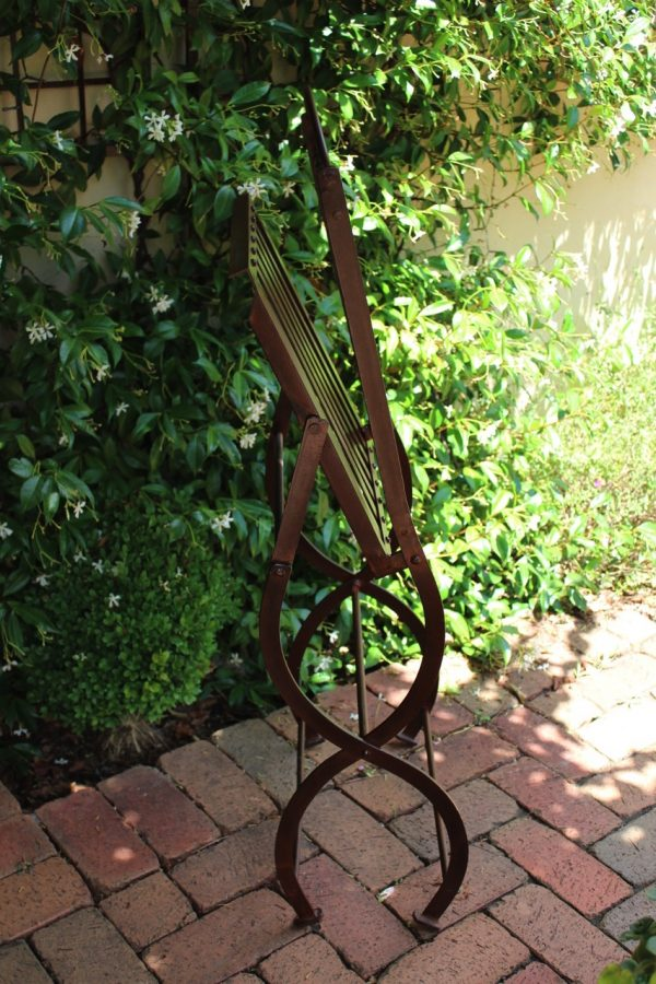 folded iron chair & star jasmine