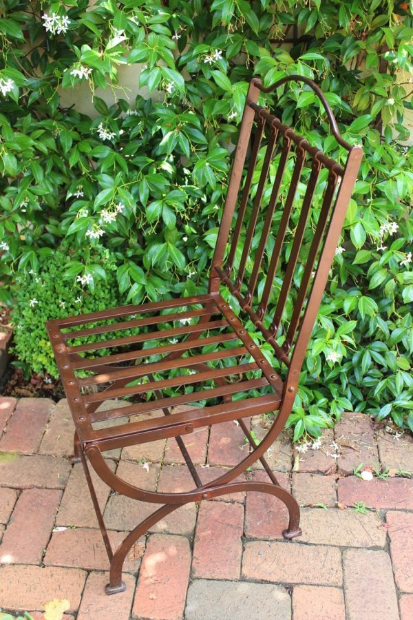 wrought iron garden chair & star jasmine