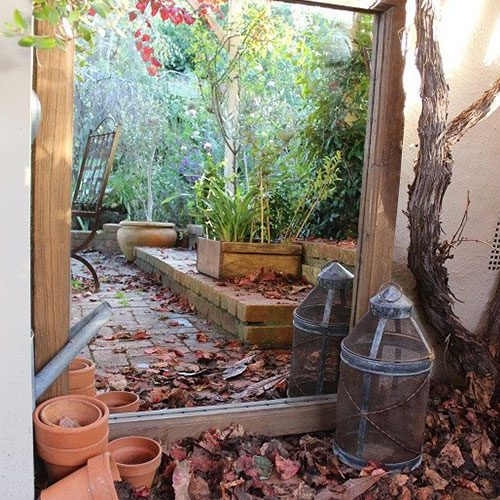 Outdoor garden mirror