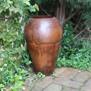 Outdoor green olive garden pot