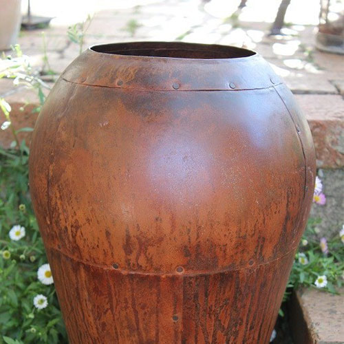 Outdoor olive garden pot