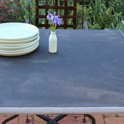 stone table top in the garden