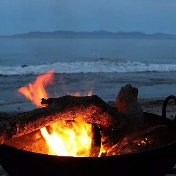 A fire pit on the beach at Walkerville