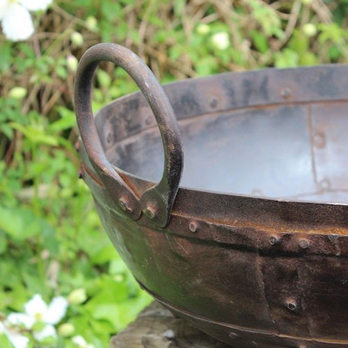 Old Indian Cooking Planter Pot