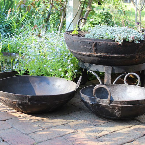 Multiple cooking planter pots