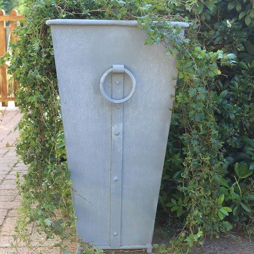 Zinc Garden Planter Pot (mid height)
