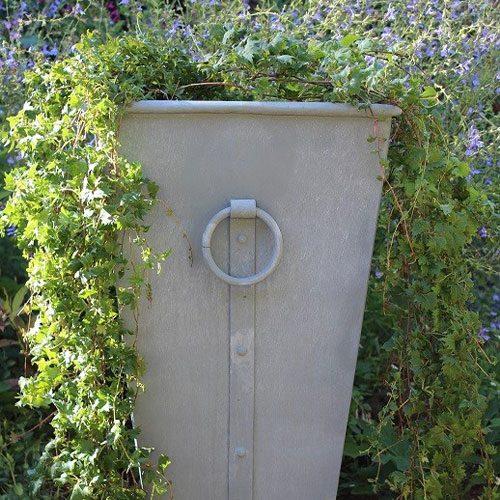 Outdoor zinc planter box