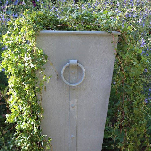 Outdoor zinc planter box