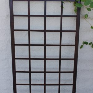 Square Iron Trellis with a honeysuckle plant