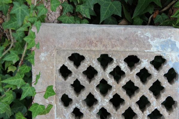 Stone wall panel in ivy