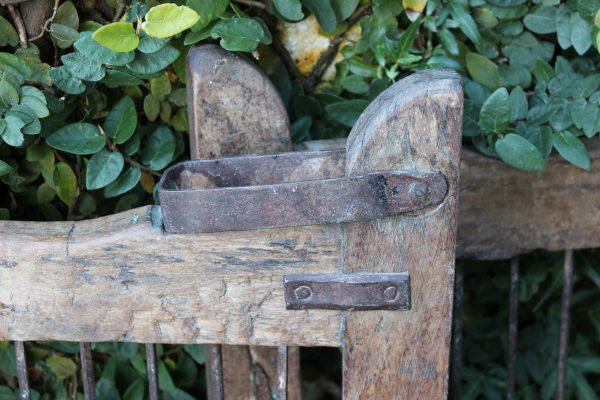 Old timber gate latch