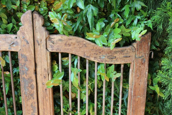 Timber and iron bar garden gate