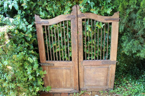 Timber and iron garden gate