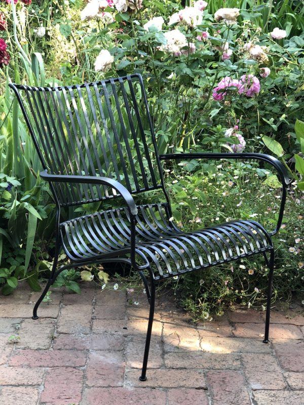 Garden chair on a patio