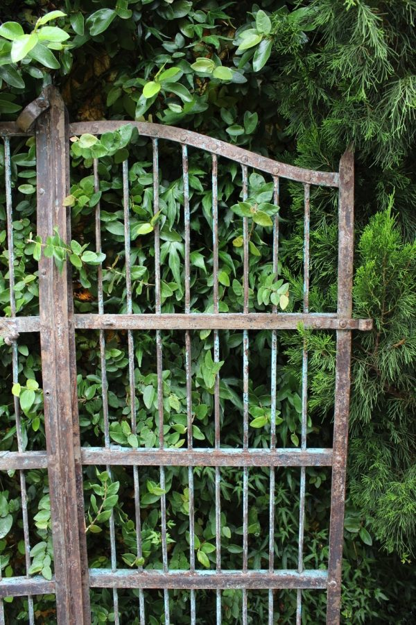 iron gate with rivets