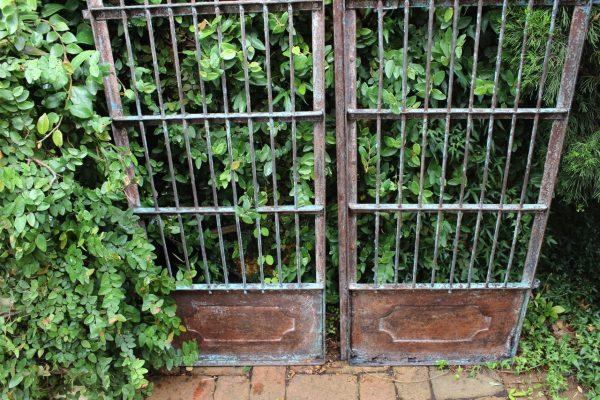 Tall iron gates