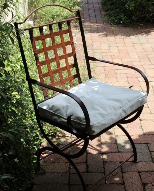 Iron chair in the garden