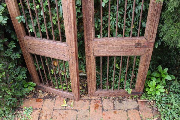 Bottom of timber gate