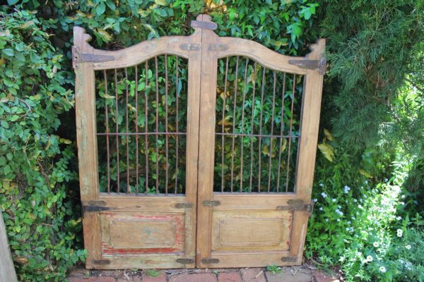 Timber and iron gate