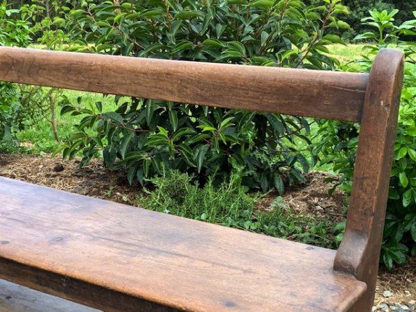 Timber bench back rest