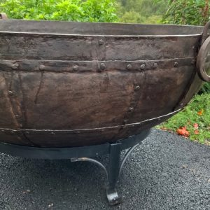 Fire pit kadai with ring handle