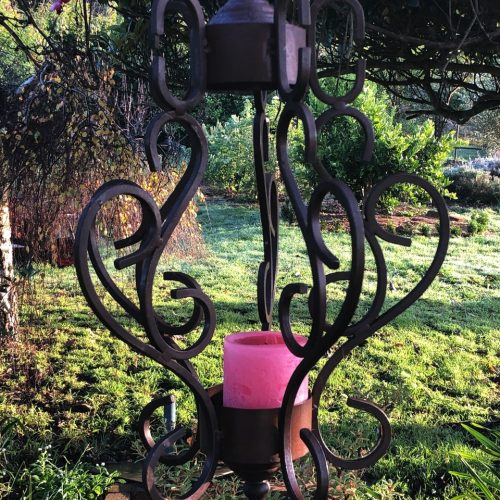 Cgandelier hanging in the garden